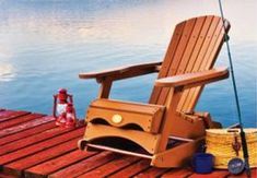Muskoka rocking chair Adirondack - Full .pdf plans with templates to build your own Adirondack rocker!
