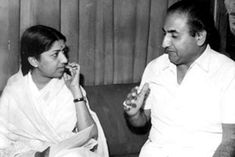 """On legendary Bollywood singer Mohammed Rafi's birth anniversary on Sunday, melody queen Lata Mangeshkar reminisced about those great times of singing companionship. She said music was his life.""""Rafi Saab was very close to my brother Hridaynath. Simi Garewal, Shammi Kapoor, Randhir Kapoor, Vinod Khanna, Bollywood Pictures, Lata Mangeshkar, Indian Star, Indian Music, Best Supporting Actor"""