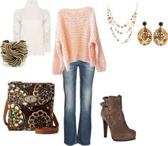 """another sweater and jean set"" by laura-truitt on Polyvore"