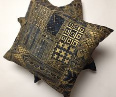 One of the cushions in our upcoming Sapellé Interiors range, coming soon to sapelle.com.