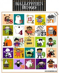 Halloween Bingo Game For school parties and home parties  www.itswrittenonthewall.com
