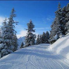 Skiing in Mayrhofen.