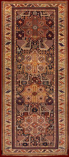 (494) SHIRVAN AKSTAFA ANTIQUE RUG cod. 141205259366 285 x 122   persian rugs   Pinterest