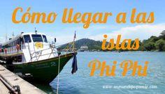 Ferry desde Phuket hasta las Islas Phi Phi, al sur de #Tailandia #SudesteAsiático