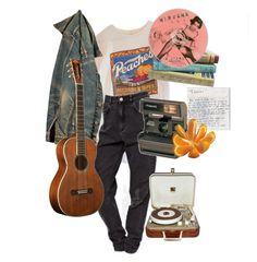 """7pm"" by paigealexandrialee on Polyvore featuring Polaroid and RCA"