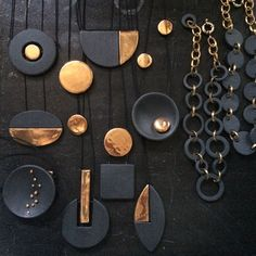 Handcrafted Porcelain Jewelry- Inspiration for polymer clay.