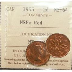 "Top 10 Rare Canadian Pennies include the 1936 dot penny, the 1955 ""No Shoulder Fold"" (NSF) and 1954 NSF. These are very valuable pennies indeed. Valuable Pennies, Rare Pennies, Valuable Coins, Old British Coins, Canadian Coins, Canadian Bacon, Coin Collection Value, Thousand Dollar Bill, Canadian Penny"