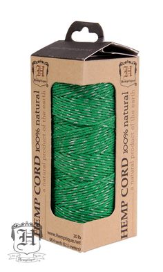Metallic Hemp Cord - Green Glitter