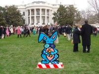 """Romero Britto's """"Millie the Bunny"""", Bush Presidential Library (Washington, DC). Learn more about Romero Britto and Florida (The Sunshine State) at: www.floridanest.com"""