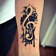 Note Tattoo Motiv schwarz