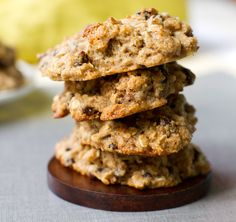 Vegan Chocolate Chip Oatmeal Trail Cookies:  I usually don't like really busy cookies, but these guys are the exception to the rule. And nothing rules like oatmeal and chocolate chips!