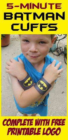 Batman Craft: Cardboard Tube Wrist Cuffs