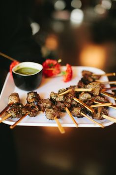 GRILLED LAMB SKEWERS with fresh herb caper sauce. Ravishing Radish Catering | Lucid Captures Photography