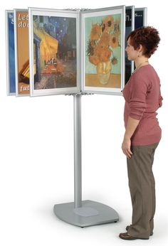 Looking for poster display stands? Our multi panel displays feature 10 double-sided poster holders and allow you to freely change the location of your poster displays! Check out the rest of our poster display selection as well!