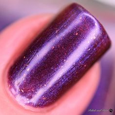 Macro shot of Laugh-Borghini from the Jokers Duo by @blushlacquers. Available now!  #blushlaughborghini #blushlacquers #blushjokersduo #prsample