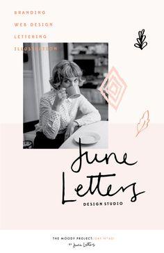 Branding for freelance designer. Blog — June Letters Design