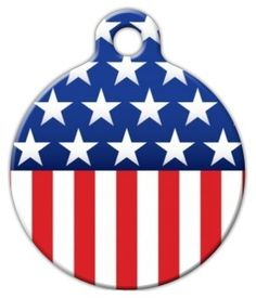 Stars and Stripes - Custom Pet ID Tag for Cats and Dogs - Dog Tag Art -- See this great product. (This is an affiliate link) Dog Id Tags, Pet Tags, Personalized Dog Collars, The Perfect Dog, Pet Id, Cat Collars, Dog Supplies, Tag Art, American Flag