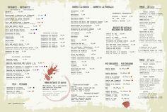 Disseny i impressió de cartes menú i carta de vins per al Restaurant Can Met Viu