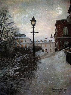 Winter in Stockholm by Kerstin Frank art, via Flickr