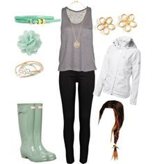 Cute rainy day outfit