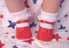 Red Mary Jane doll shoes