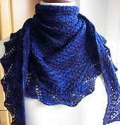 Ravelry: Demalangeni Shawl pattern by Wendy Neal free pattern ... fingering wgt ... 450 - 500 yards