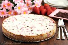 Neapolitan Greek Yogurt Cheesecake via @Foods for the Soul