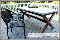 My table needs a makeover!  pottery barn picnic table,pottery barn picnic table | picnic table, Kreg jig, Behr deck stain