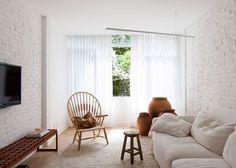 são paulo apartment renovation featuring traditional ceramic blocks.