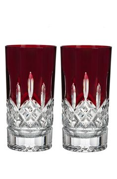 Waterford 'Lismore Red' Lead Crystal Highball Glasses