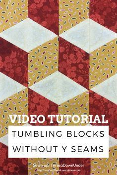 Tutorial: Tumbling blocks without Y seams