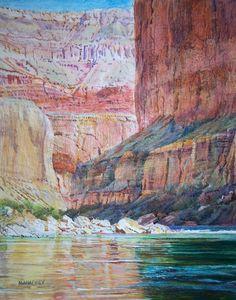 Alcove Corner, 20 x 16, Acrylic on Canvas by Merrill Mahaffey at a Scottsdale art gallery