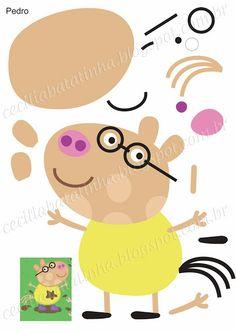 Formy Peppa Pig a její gang - koutek Sonie Moury Molde Peppa Pig, Cumple Peppa Pig, Pig Crafts, Felt Crafts, Peppa Pig Familie, Peepa Pig, Familia Peppa Pig, Diy For Kids, Crafts For Kids