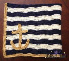 He encontrado este interesante anuncio de Etsy en https://www.etsy.com/es/listing/205425820/crochet-nautical-baby-blanket-with