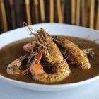 Barbecued shrimp was invented at Pascal's Manale in New Orleans.