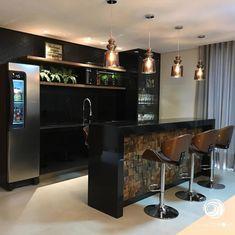 Pedra ferro: descubra sua beleza e encante-se com o seu visual Kitchen Room Design, Kitchen Sets, Modern Kitchen Design, Kitchen Interior, Kitchen Decor, Best Home Warranty, Home Pub, Sofa Inspiration, Pooja Rooms