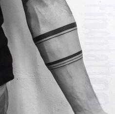 Arm band tattoo with musculature & veins #maoritattoosband