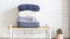 Sheltered Co.: Breathable, Sustainable Weighted Blankets by Sheltered Co. Raise Funds, Weighted Blanket, Merino Wool Blanket, Sustainability, Shelter, Hand Weaving, Pretty, Projects, Fabric