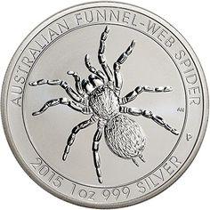 2015 AU Australia Silver Funnel-Web Spider (1 oz) - BU ...