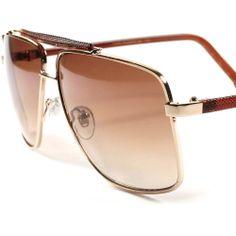 Classic Retro Fashion Rectangle Square Fancy Aviator Mens Womens Sunglasses B64A