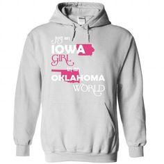 (Iowa001) Just An Iowa Girl In A Oklahoma World - #hoodie pattern #hoodie style. OBTAIN => https://www.sunfrog.com/Valentines/-28Iowa001-29-Just-An-Iowa-Girl-In-A-Oklahoma-World-White-Hoodie.html?68278