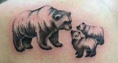 I love these Momma Bear Tattoo Designs! Cubs Tattoo, Bear Tattoos, Mom Tattoos, Body Art Tattoos, Tatoos, Unique Tattoos, Beautiful Tattoos, Polar Bear Tattoo, Mom Tattoo Designs