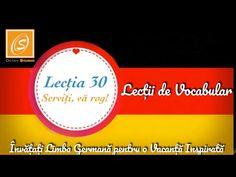 Lecția 30 - Serviți, vă rog - Lecții de Vocabular în Limba Germană - YouTube Chart, Youtube, Youtubers, Youtube Movies
