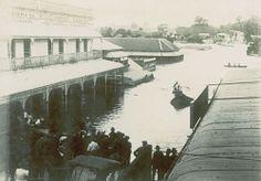 Brisbane Street, in flood, Ipswich, 1893 Ipswich Qld, Queensland Australia, Back In The Day, Historical Photos, Brisbane, Old Photos, Vietnam, Past, Buildings