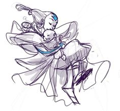 Baby Aang and his mother--dont know if thats true cuz it looks like the last airbender avatar...but ill pretend for a minute..