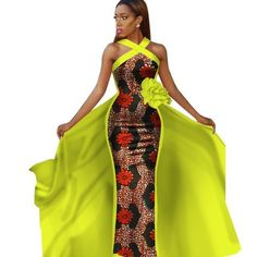 Tailor-Made African Dashiki Sleeveless Prom Dresses for Ladies Source by afrinspiration African Formal Dress, African Prom Dresses, African Dresses For Women, African Attire, African Wear, African Fashion Dresses, Fashion Outfits, Fashion Styles, African Outfits