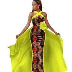 African Clothing For Women Dashiki Sleeveless Prom Dress Dresses Tailor Made