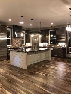Prefinished Solid Brazilian Macchiato Pecan Wood Hardwood Flooring Sample - Dream home design - Dream Home Design, My Dream Home, Dream Homes, Best Home Design, Rustic House Design, Dream House Interior, Beautiful Houses Interior, Beautiful Kitchens, Home Decor Kitchen
