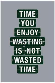Time You Enjoy Wasting