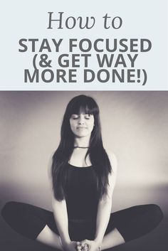 Do you often find yourself starting to work, only to get completely distracted soon after? It happens to us all - it's no wonder we all wish there were more hours in the day! If you want to be more productive, then you need to stay focused. Check out this video post where I share my top tips for keeping your focus and getting more done ;)